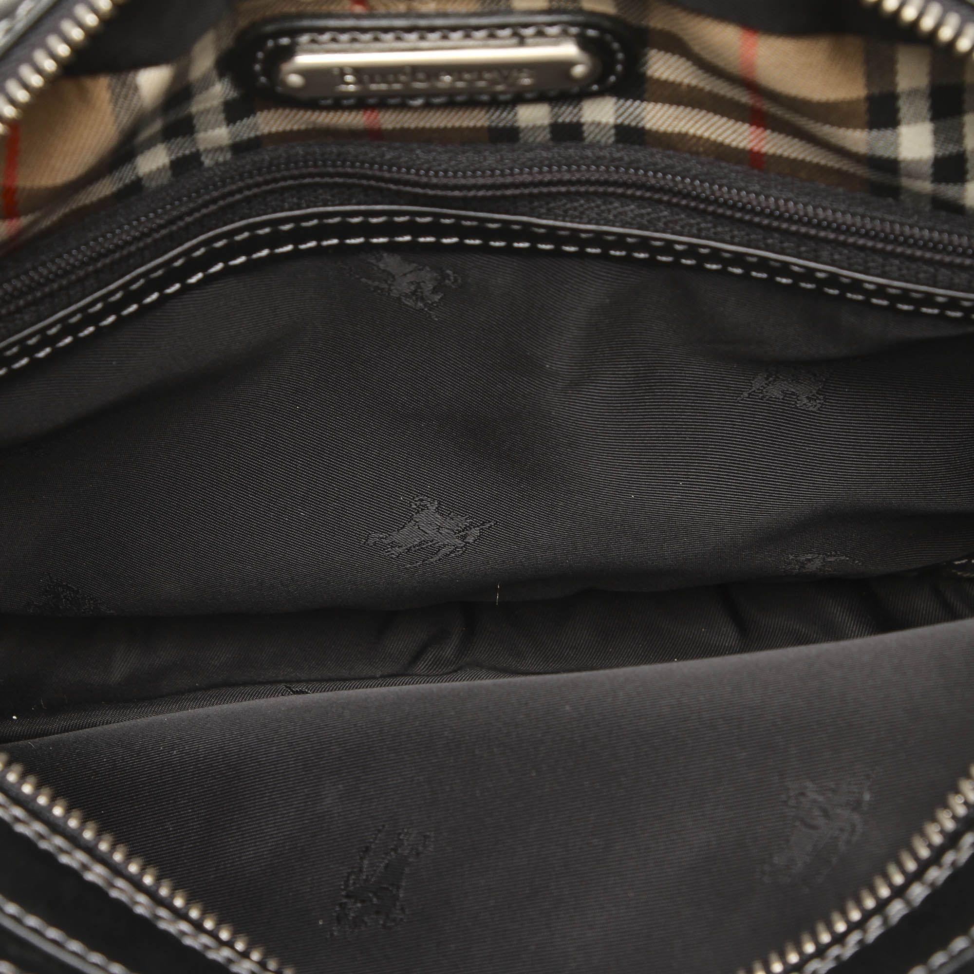 Vintage Burberry Leather Pouch Black