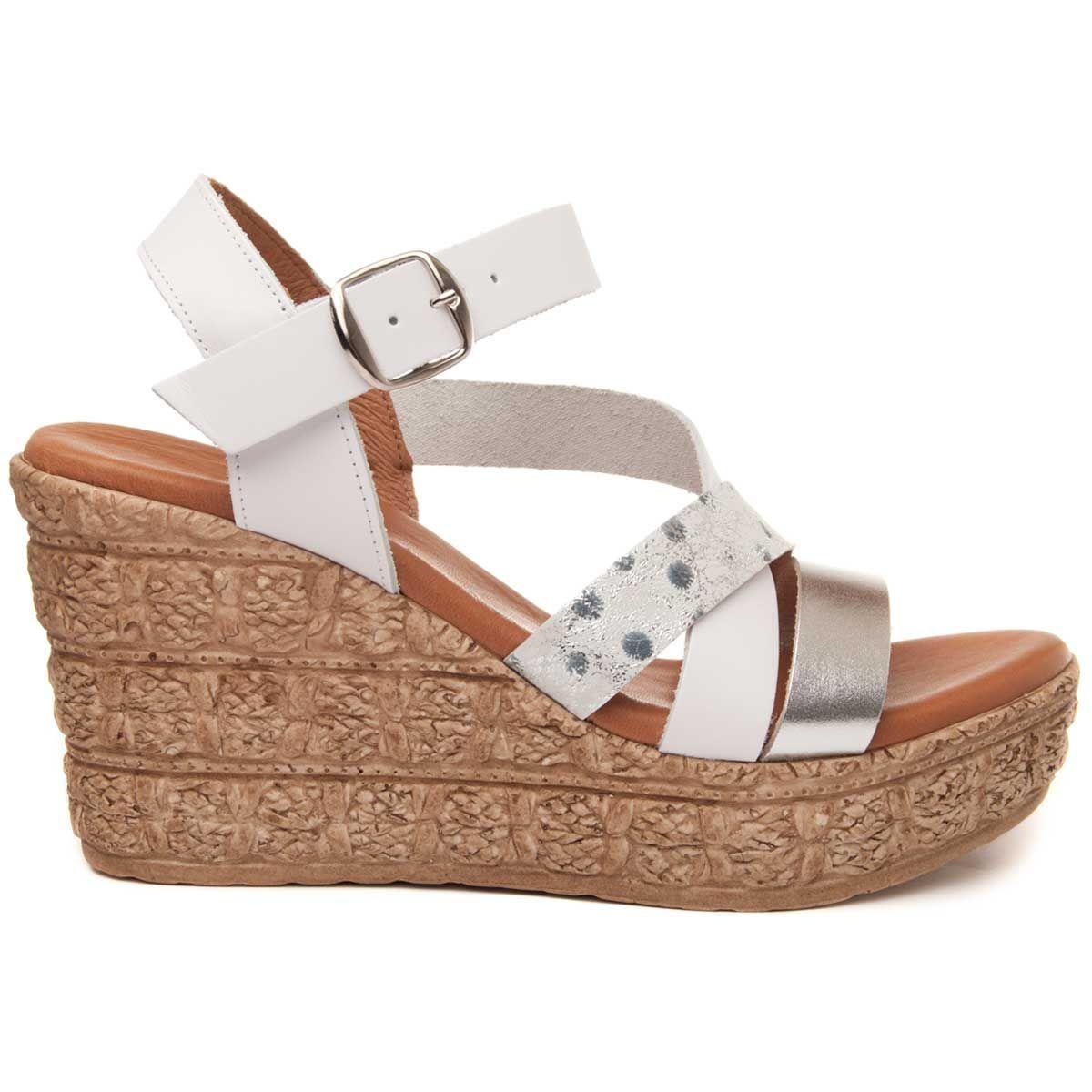 Montevita Chunky Heel Sandal in White