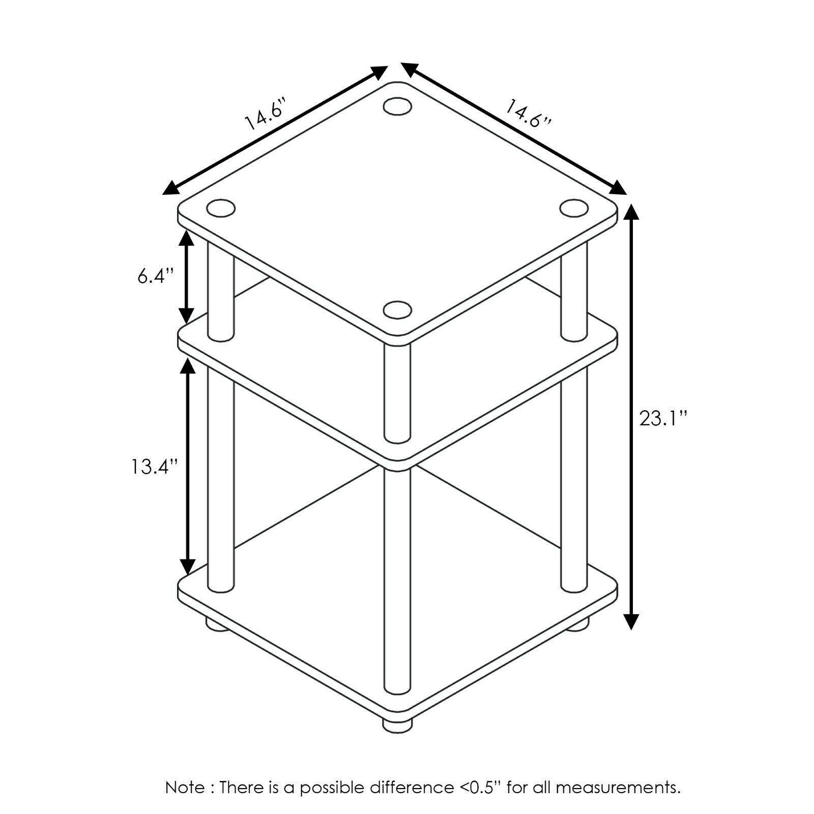 Furinno Turn-N-Tube Easy Assembly Multipurpose Shelf, Columbia Walnut/Black