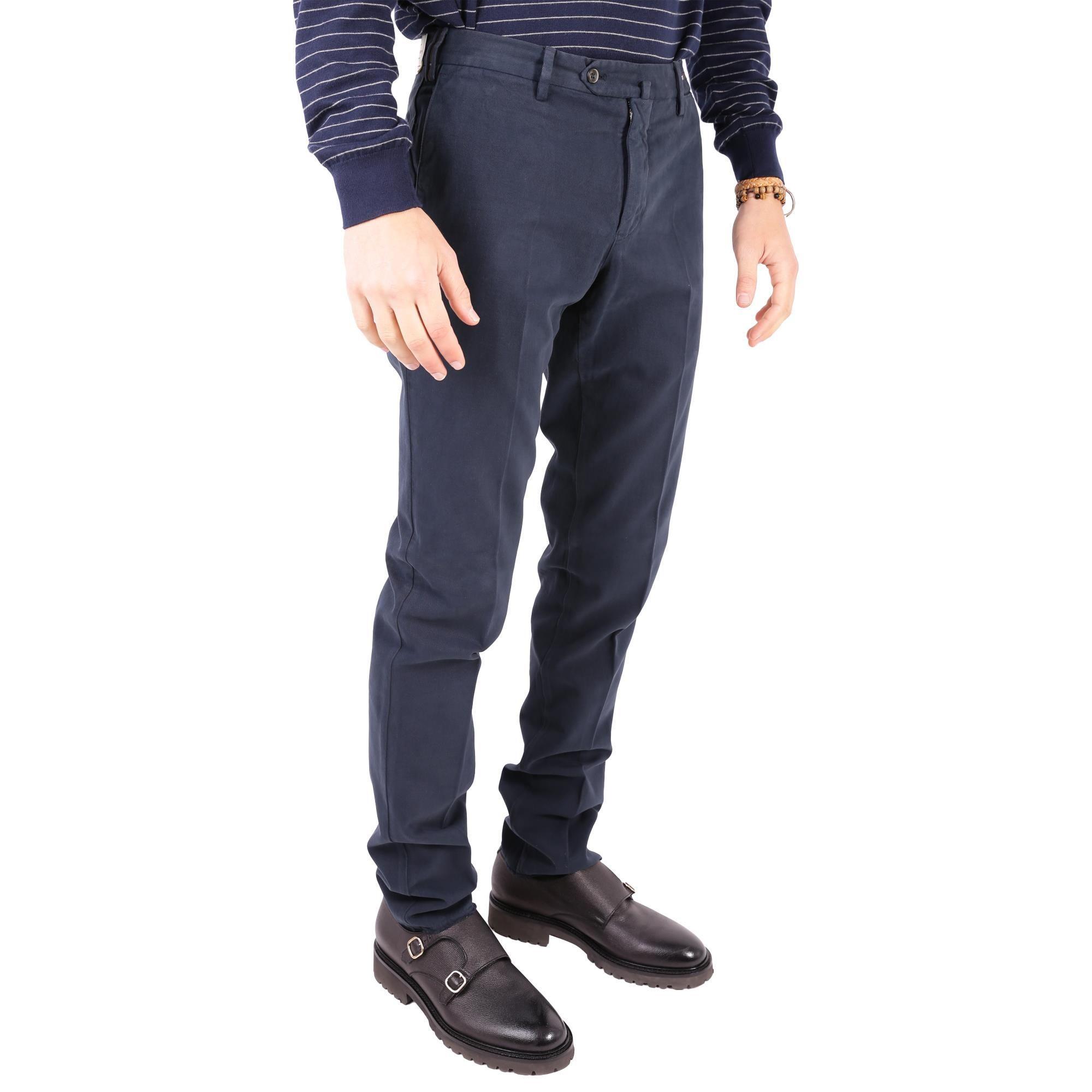 PT01 MEN'S VT01Z00CLATS330360 BLUE COTTON PANTS