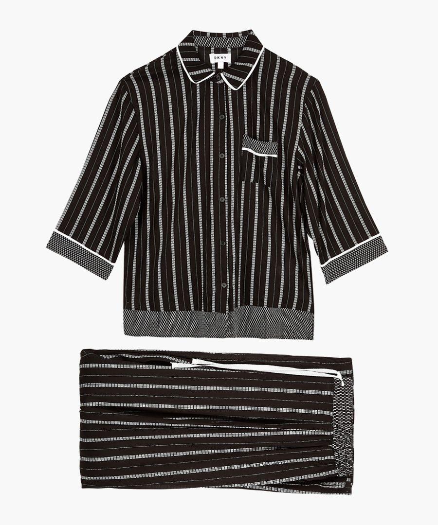 Black and white striped pyjama top