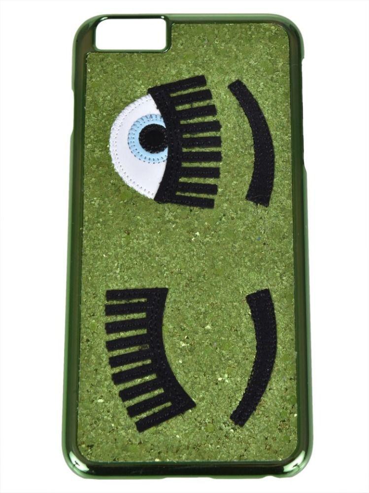 CHIARA FERRAGNI WOMEN'S CFCIP6P001GREEN GREEN PVC COVER