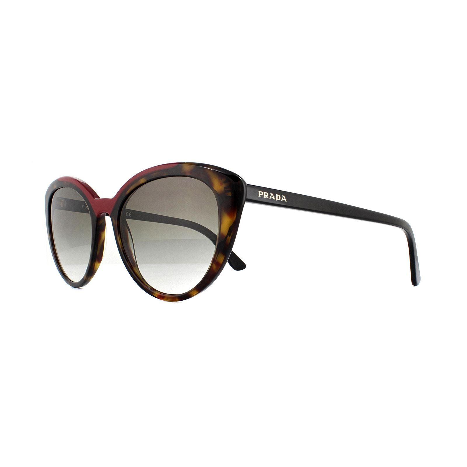 Prada Sunglasses PR 02VS 3200A7 Havana Red Grey Gradient
