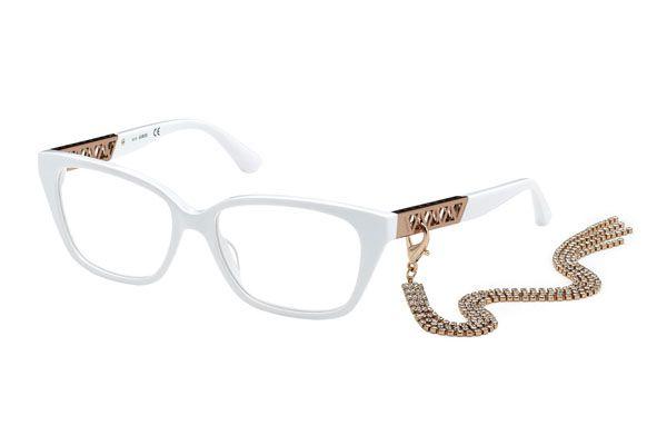 Guess Rectangular plastic Women Eyeglasses White / Clear Lens
