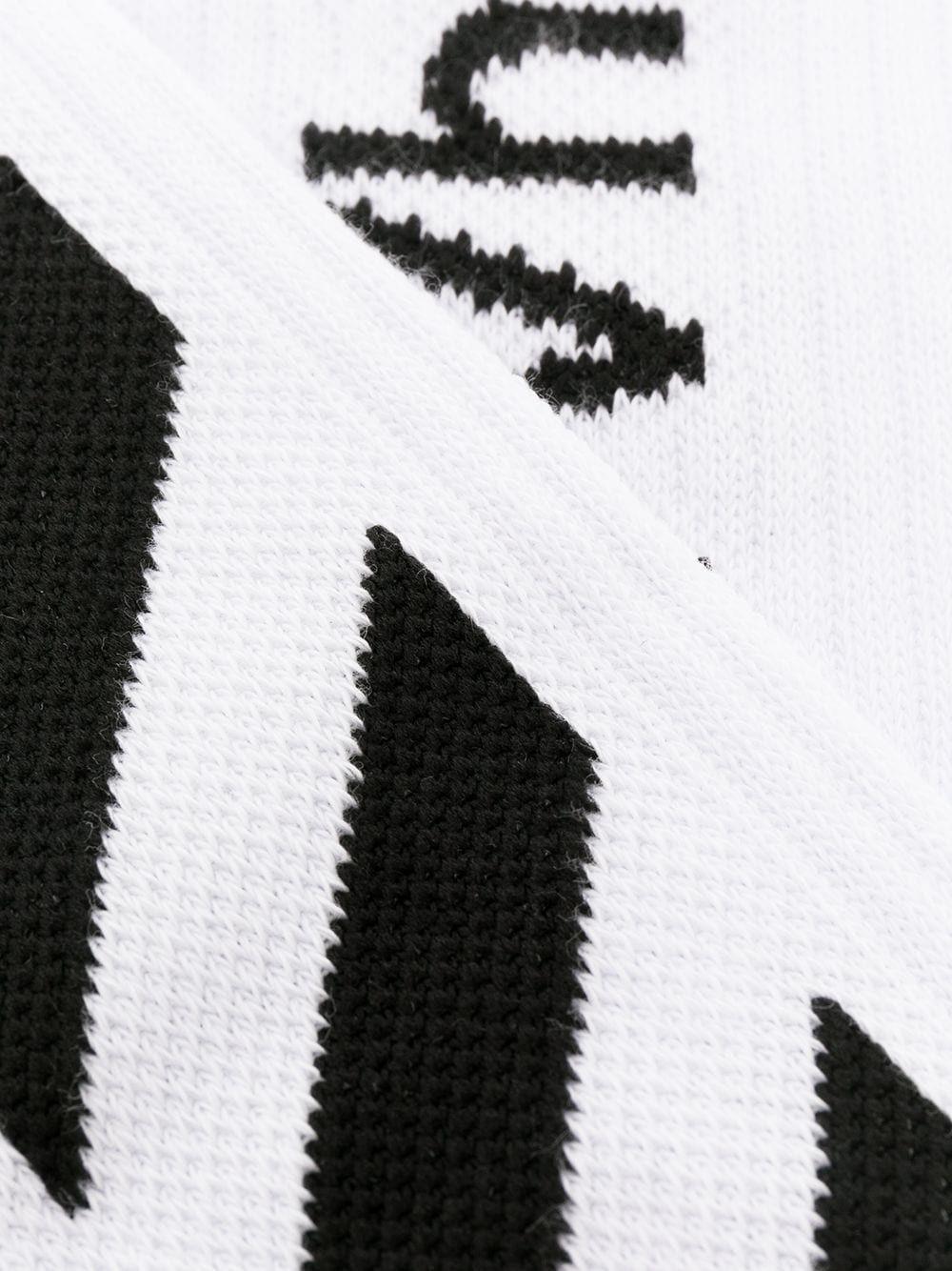 OFF-WHITE MEN'S OMRA001R21KNI0030110 WHITE COTTON SOCKS