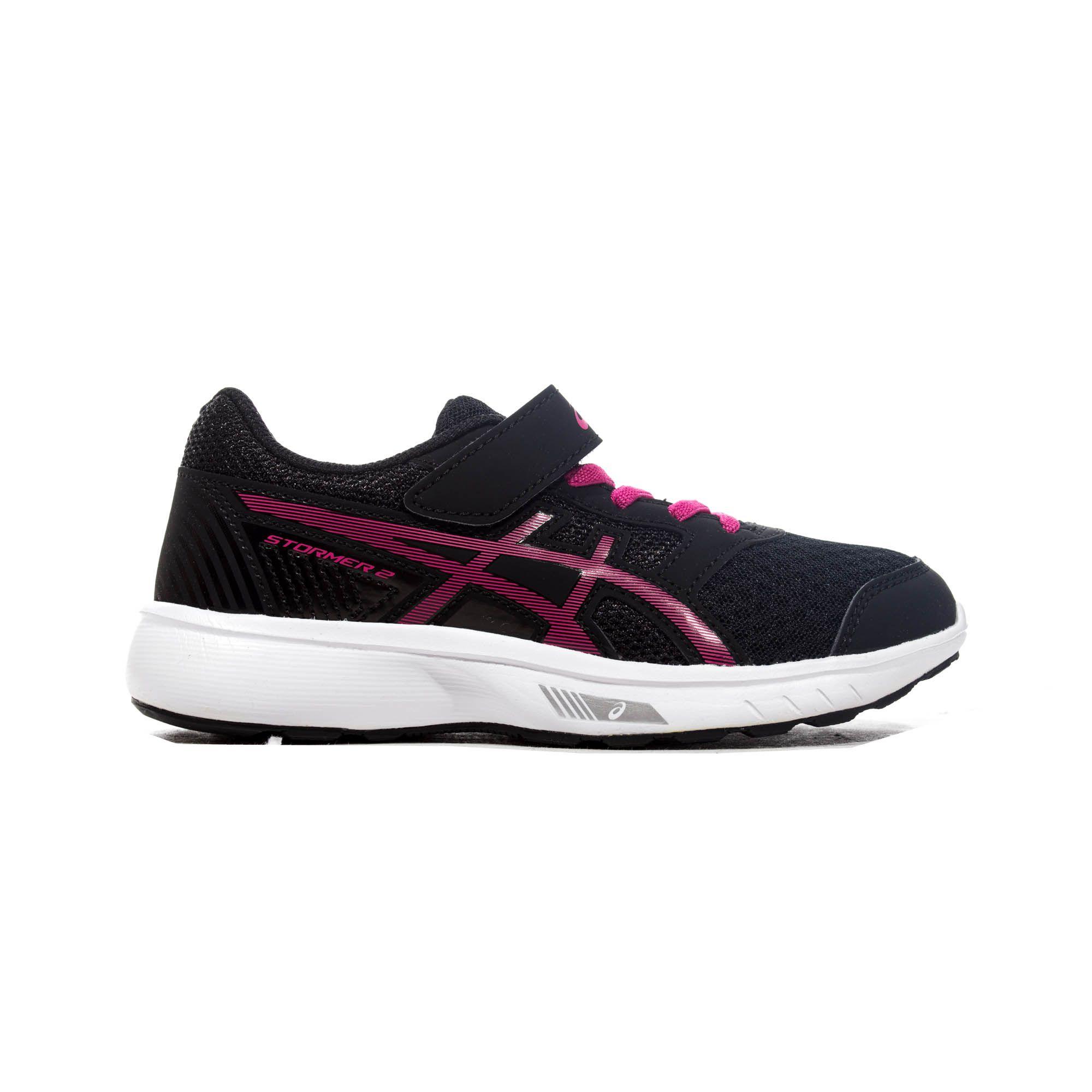 Asics Stormer 2 Junior Running Trainer Black/Pink