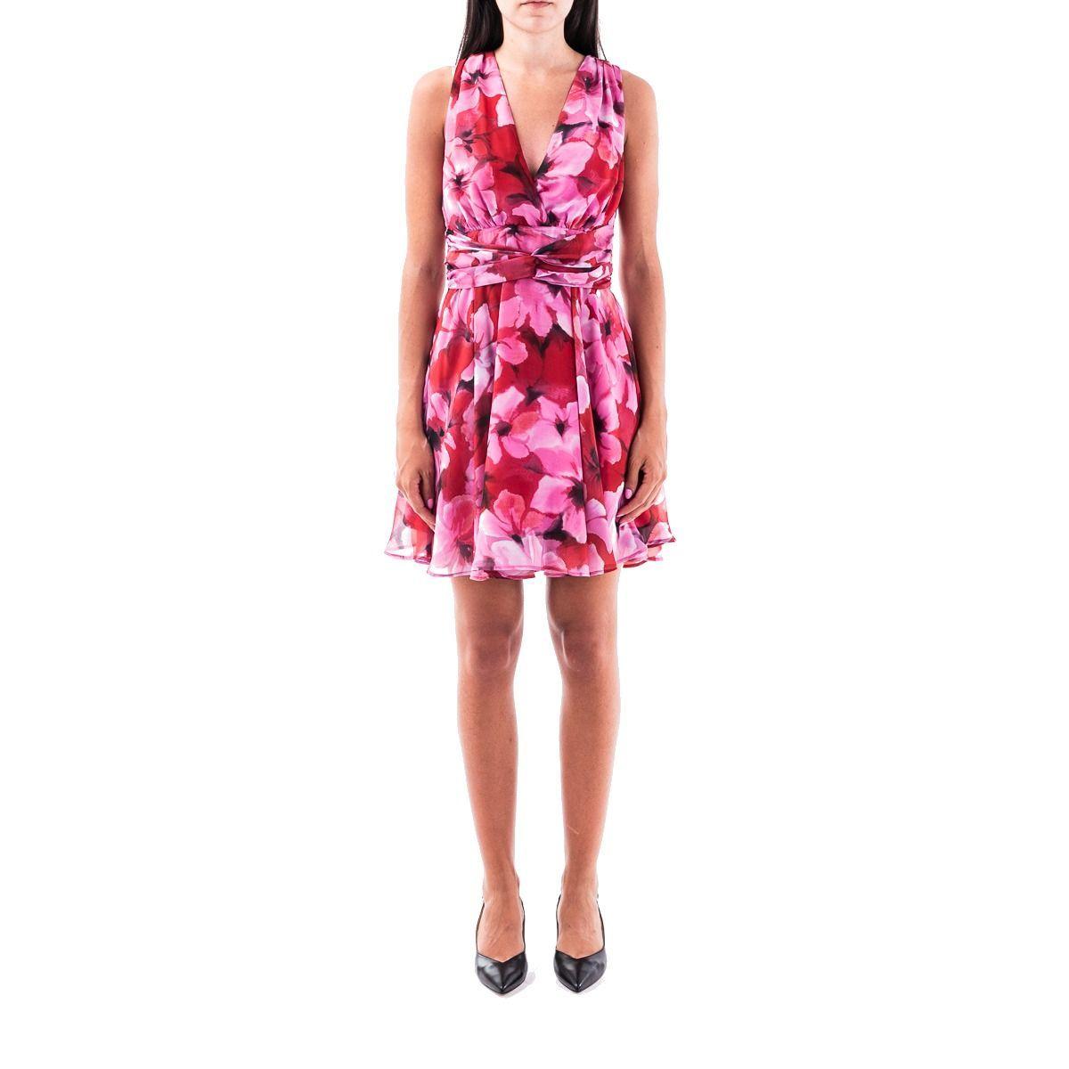 LIU JO WOMEN'S IA0199T2362U9783 FUCHSIA POLYESTER DRESS
