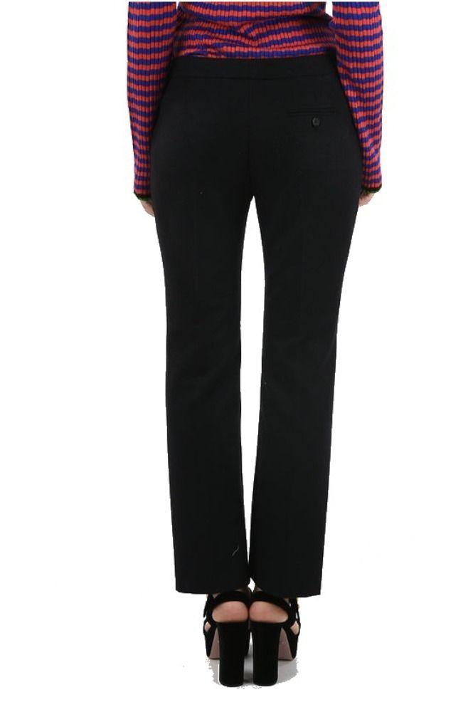 ALEXANDER MCQUEEN WOMEN'S 594342QJAAN1000 BLACK WOOL PANTS
