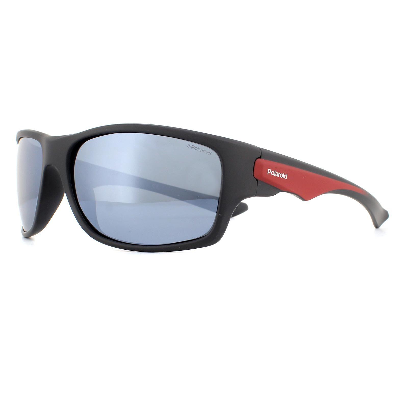 Polaroid Sunglasses PLD 7012/S OIT EX Black Red  Grey Silver Polarized Mirror
