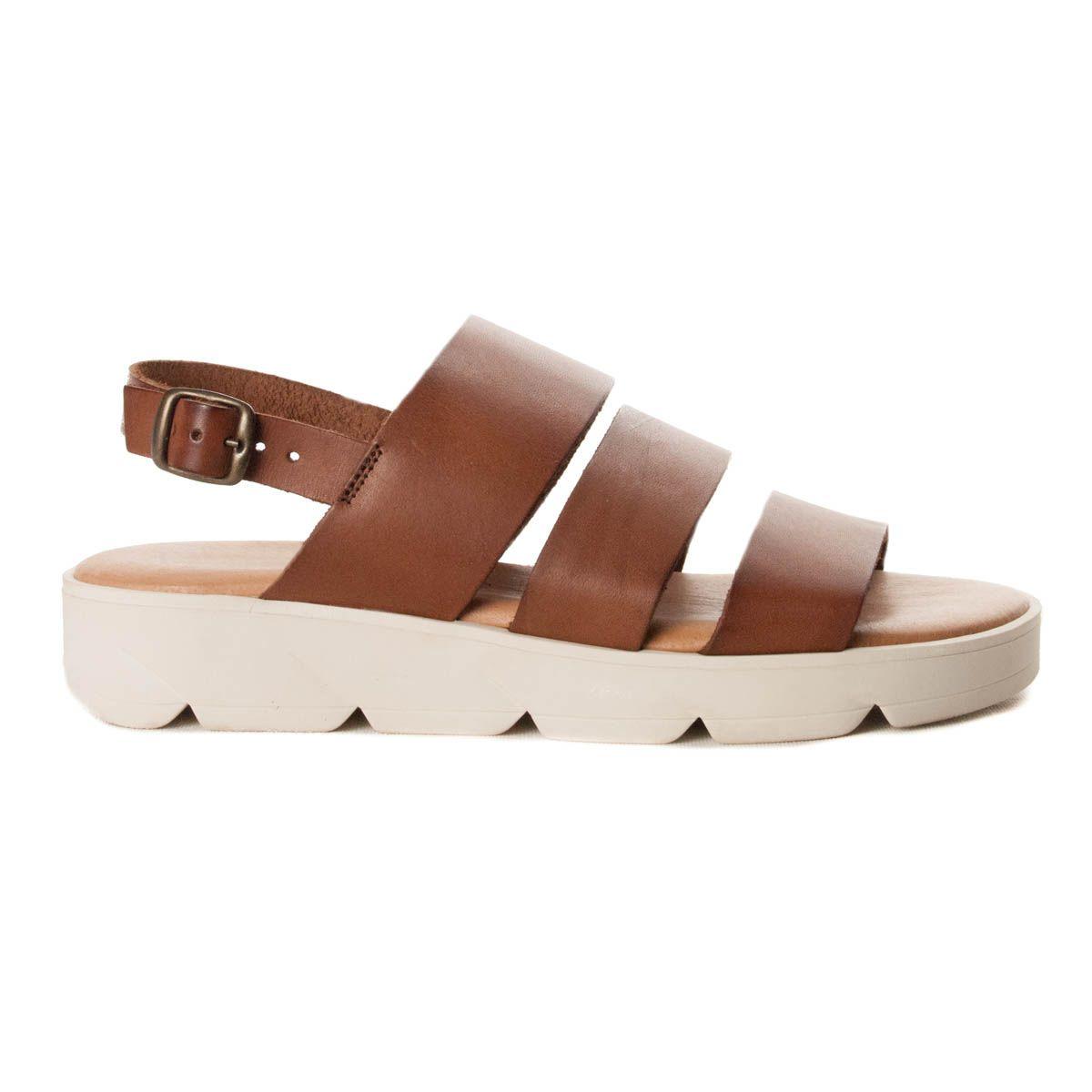 Montevita Wedge Sandal in Brown