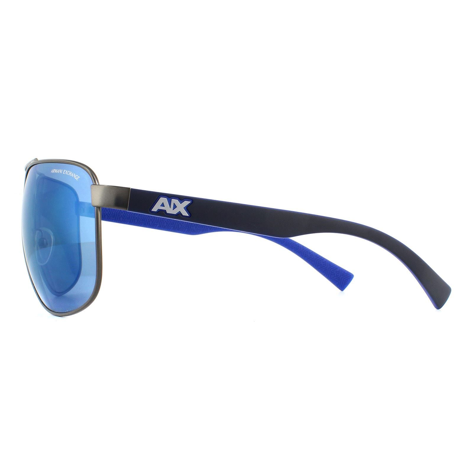 Armani Exchange Sunglasses 2026S 608855 Matte Gunmetal Blue Mirror