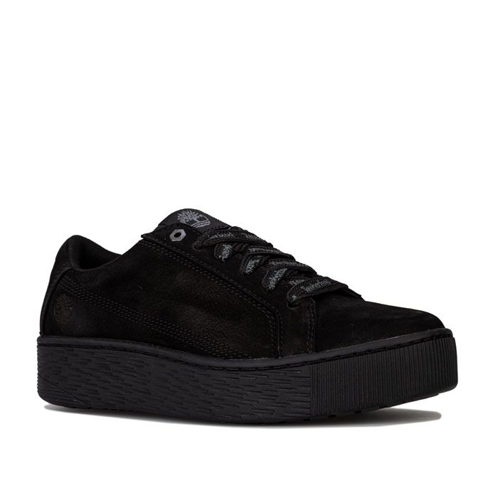 Women's Timberland Marblesa Leather Trainers in Black