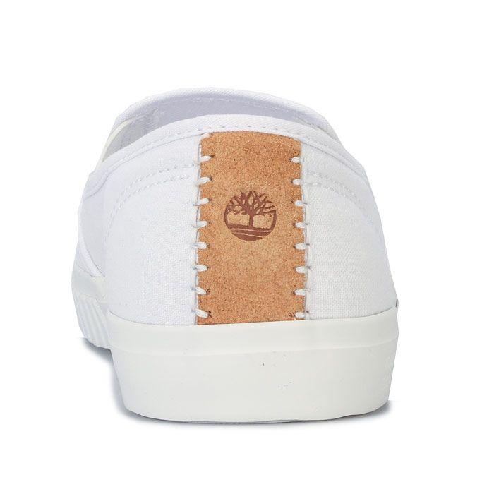 Women's Timberland Newport Bay Bumper Toe Slip-On Pumps in White