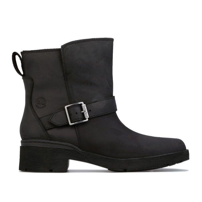 Women's Timberland Graceyn Biker Waterproof Boots in Black