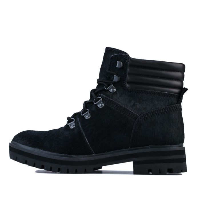 Women's Timberland London Square Mid Hiker Boots in Black