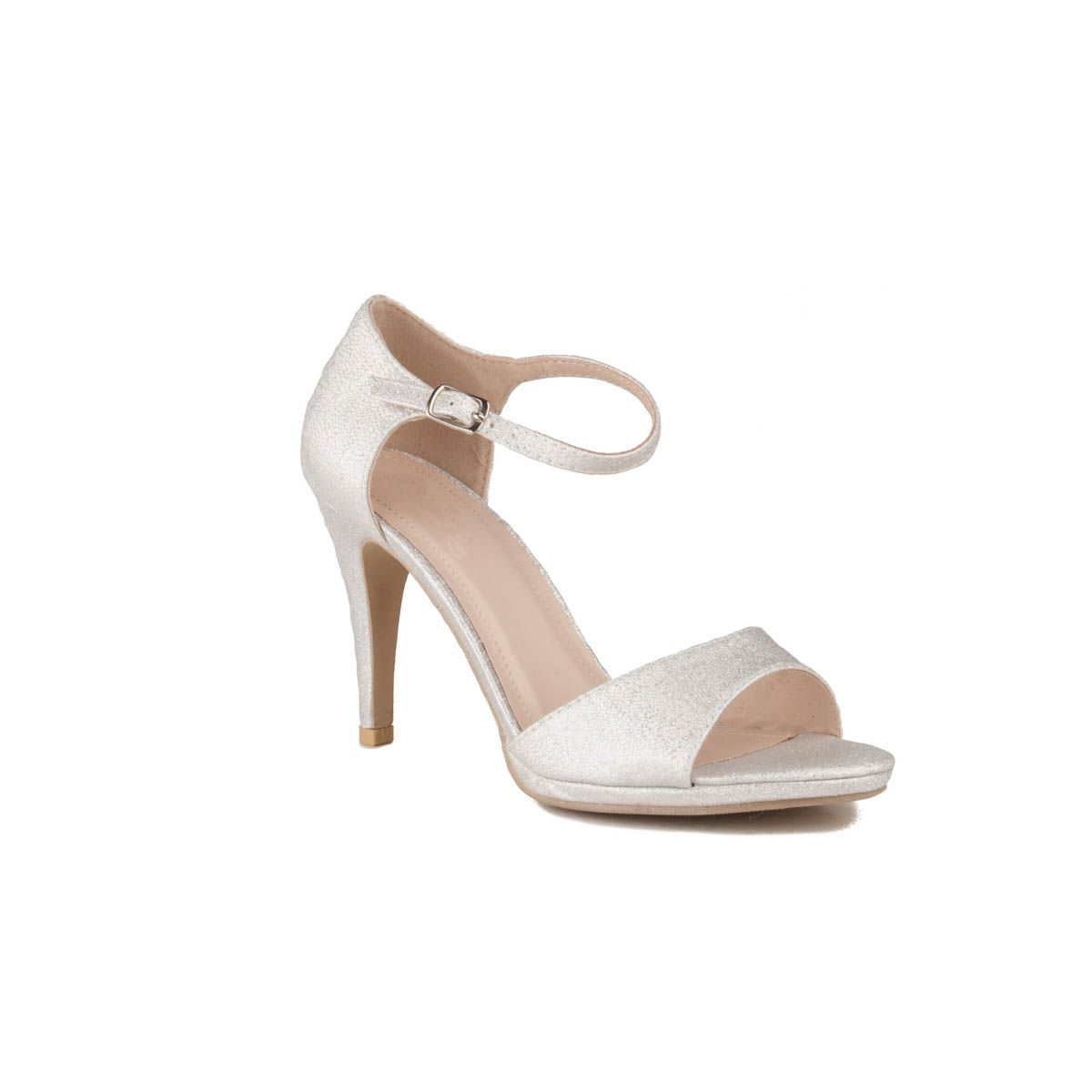 Montevita Heeled Sandal in Silver
