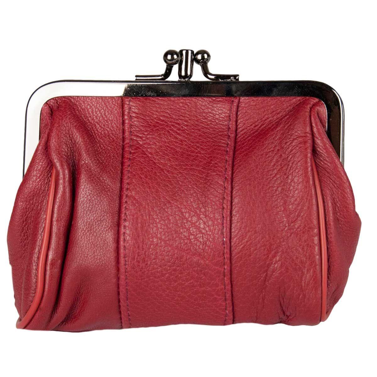 Montevita Leather Purse in Bordo