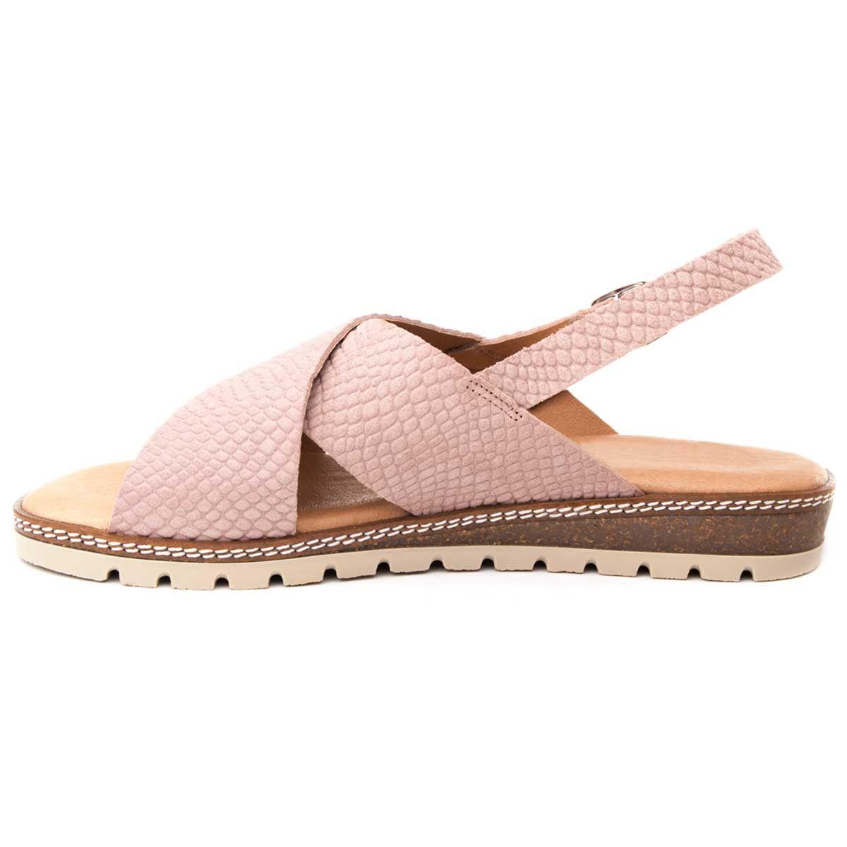 Purapiel Flat Wedge Sandal in Nude