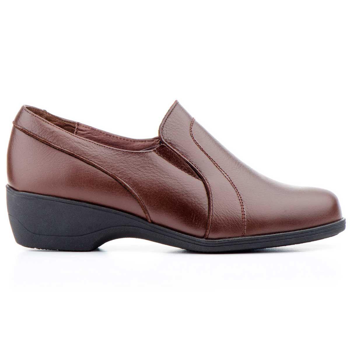 Purapiel Wedge Shoe in Brown