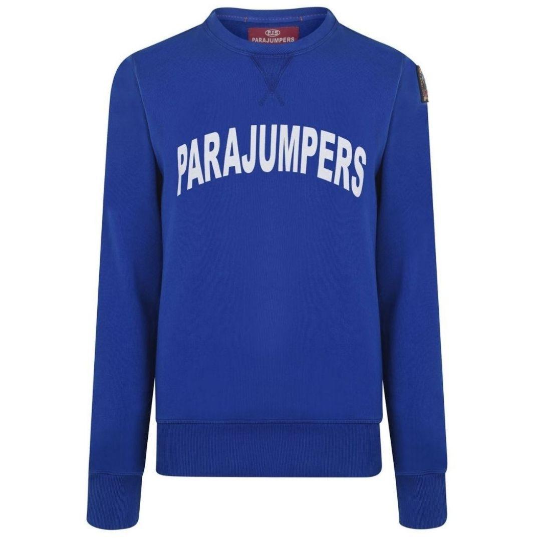 Parajumpers Caleb Bold Logo Blue Jumper