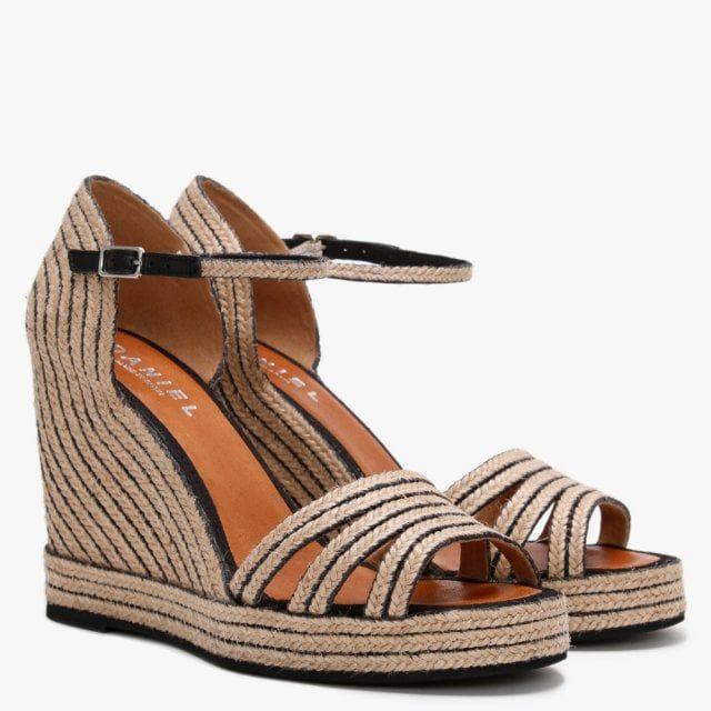 Daniel Callie Jute Trim Wedge Sandals
