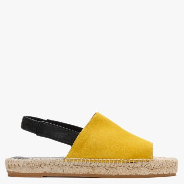 Carmen Saiz Suede Sling Back Flat Espadrille Sandals