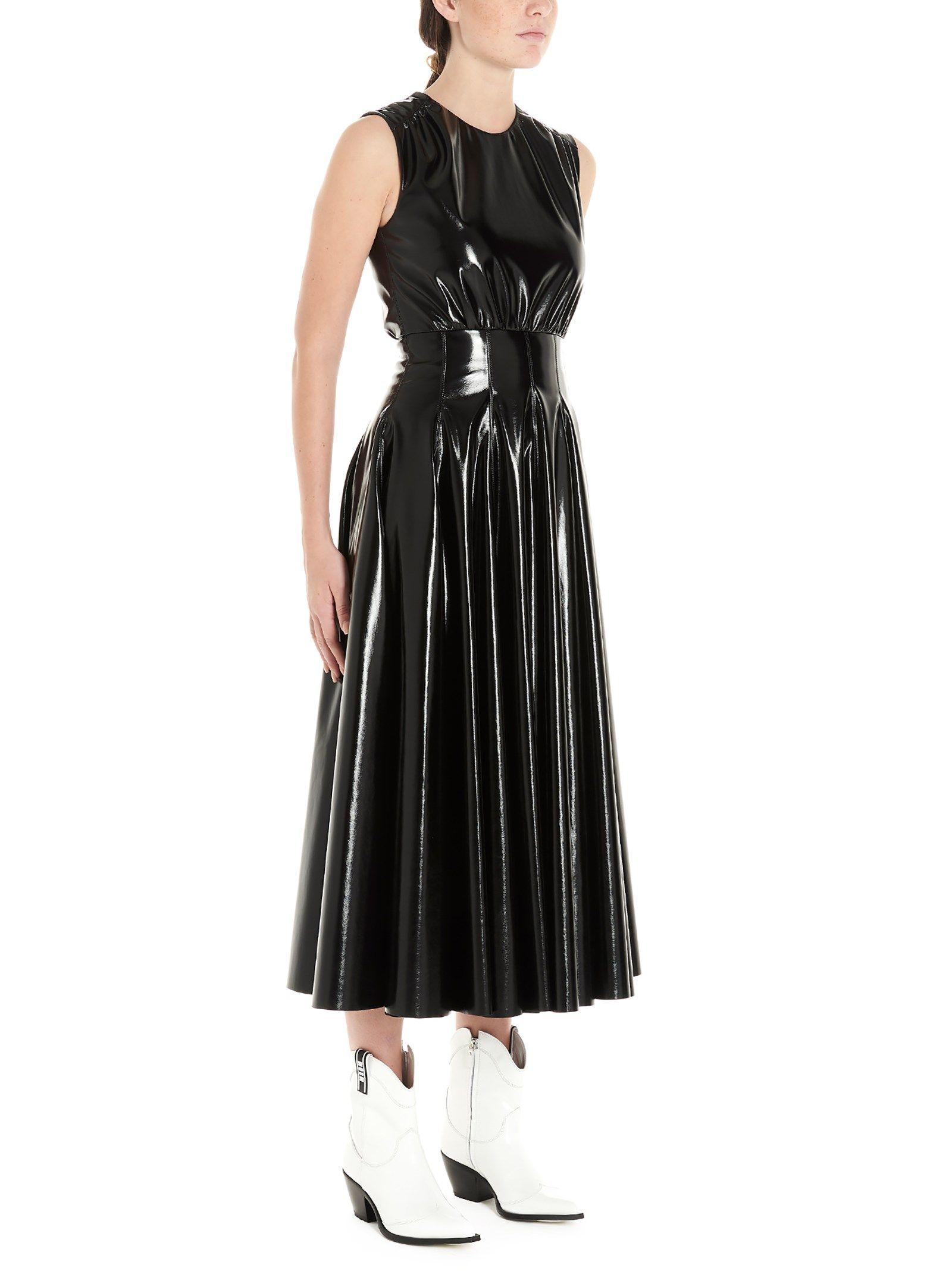 MSGM WOMEN'S 2741MDA2319561599 BLACK POLYESTER DRESS