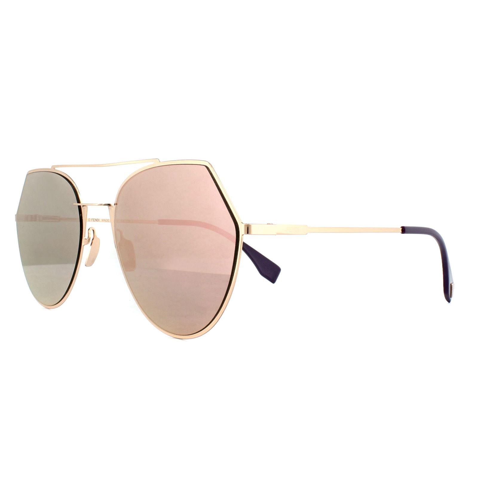 Fendi Sunglasses Eyeline FF 0194/S DDB AP Gold Copper Silver