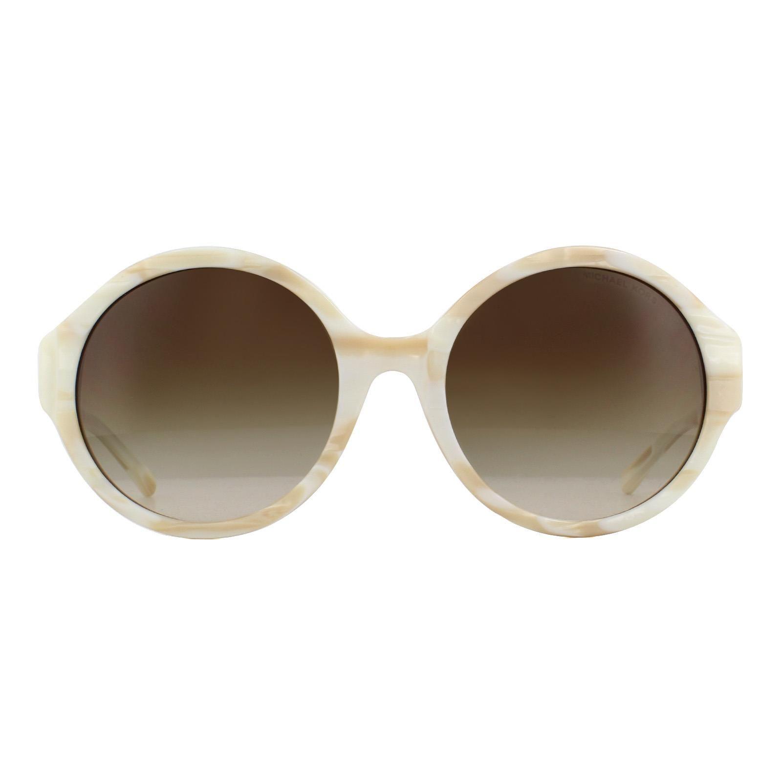 Michael Kors Sunglasses Seaside Getaway 2035 320813 Ivory Horn Brown Gradient