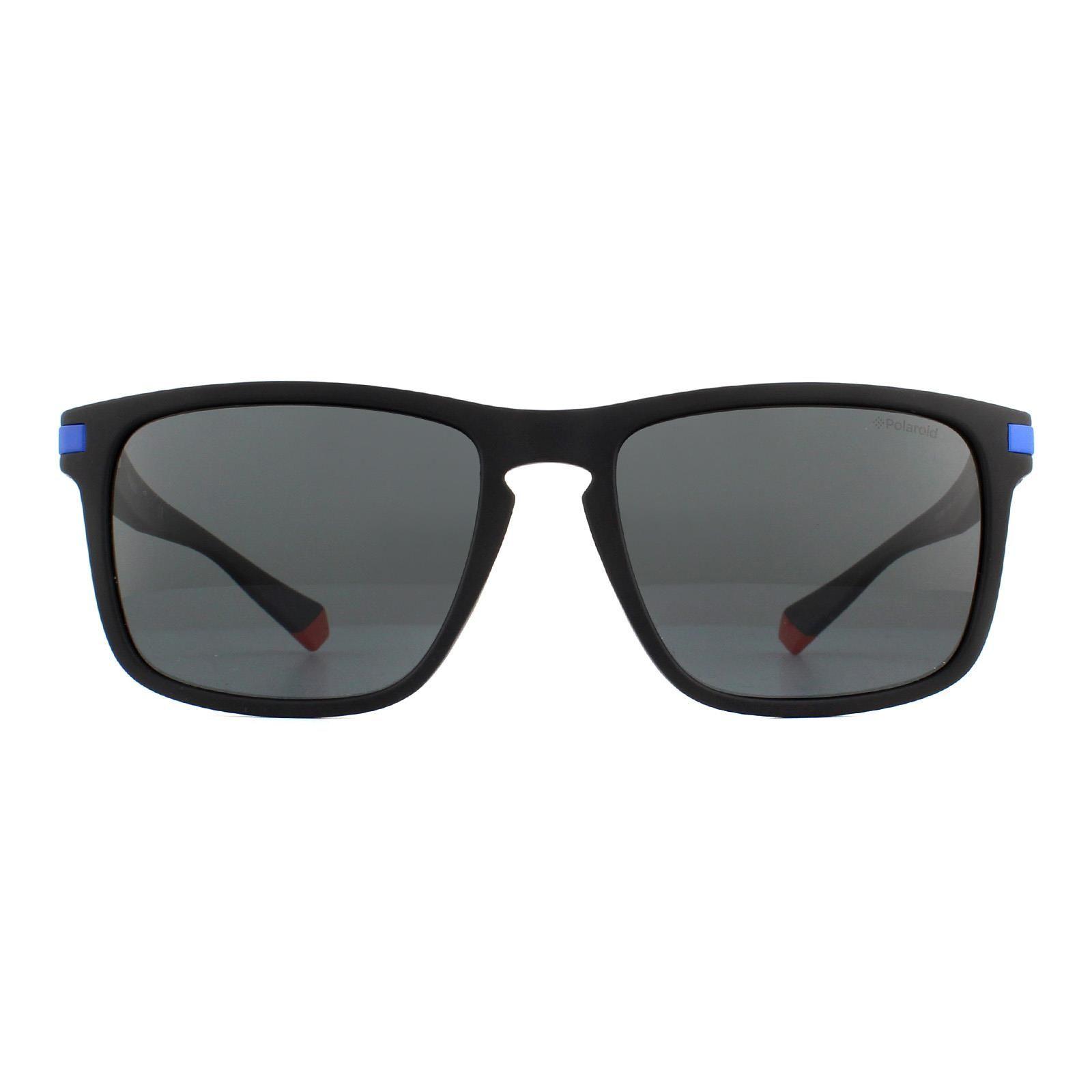 Polaroid Sunglasses PLD 2088/S 0VK M9 Matte Black Blue Grey Polarized