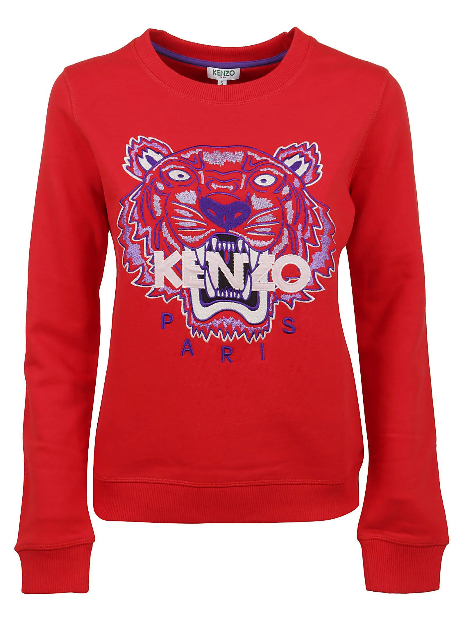 KENZO WOMEN'S FA52SW7054XA21 RED COTTON SWEATSHIRT