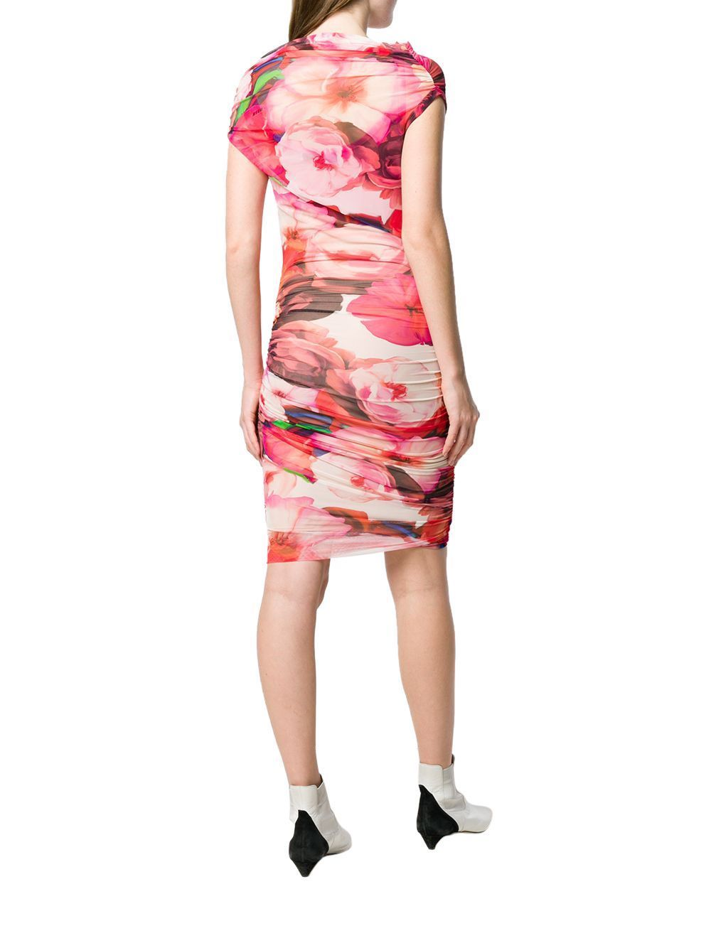 MSGM WOMEN'S 2642MDA212Y19535801 PINK POLYAMIDE DRESS