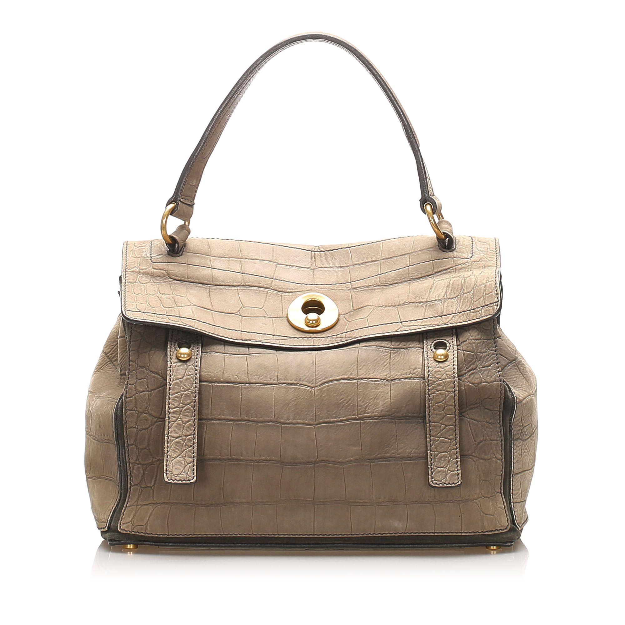 Vintage YSL Muse Two Leather Handbag Brown