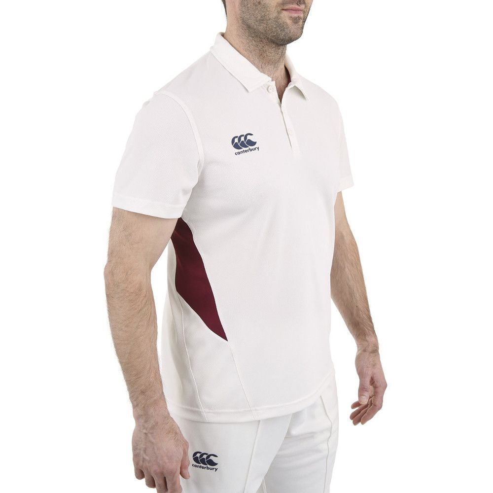Canterbury Mens Wicking CCC Logo Cricket Polo Shirt