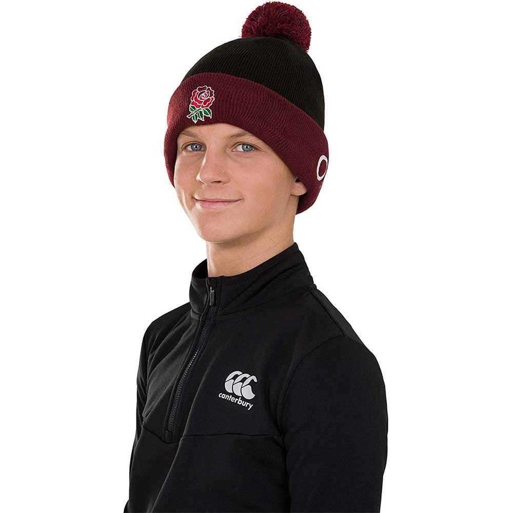 Canterbury Mens England Rugby Acrylic Bobble Hat