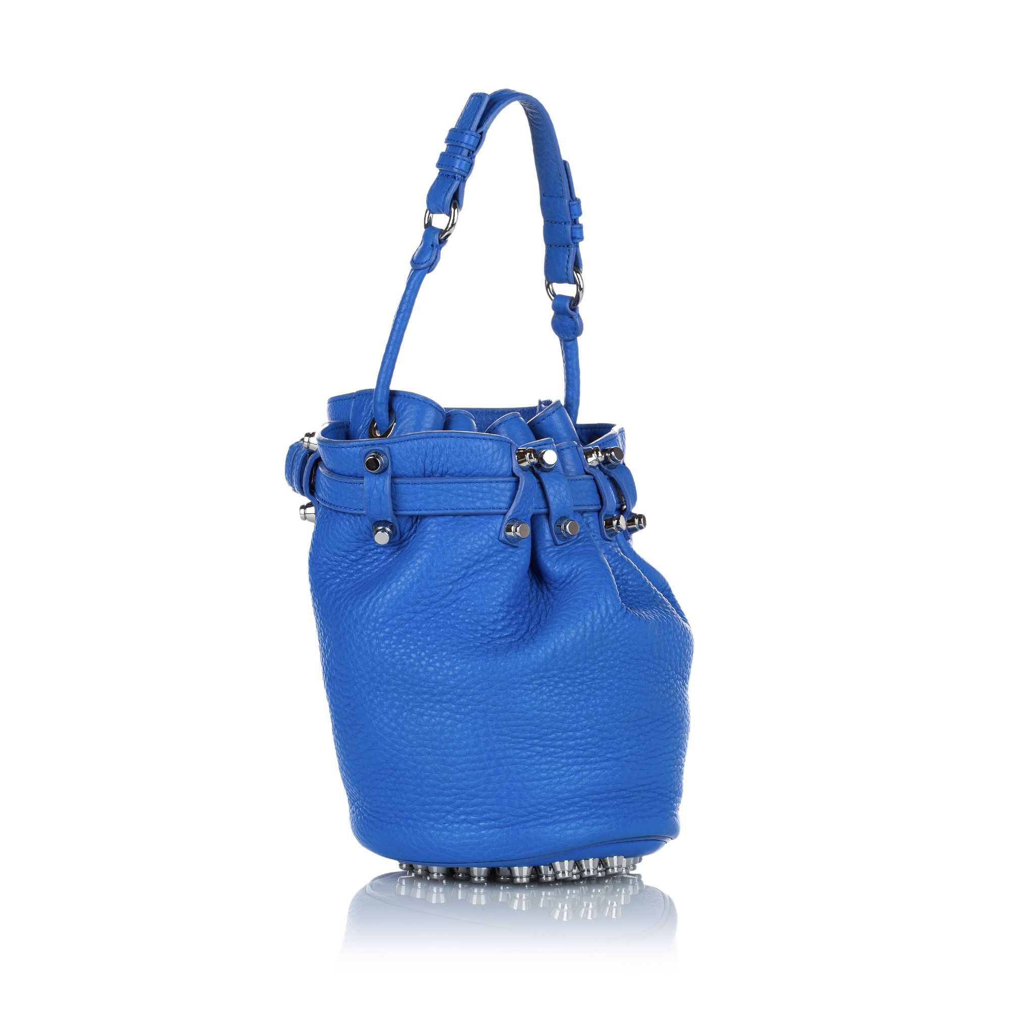 Vintage Alexander Wang Diego Leather Bucket Bag Blue