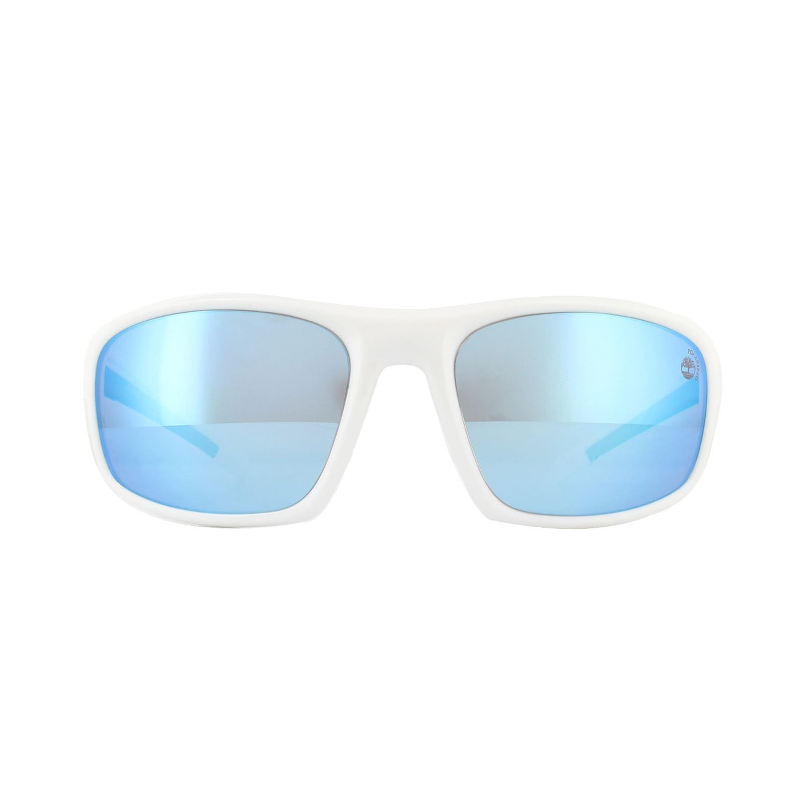 Timberland Sunglasses TB9134 21H White Blue Mirror Polarized