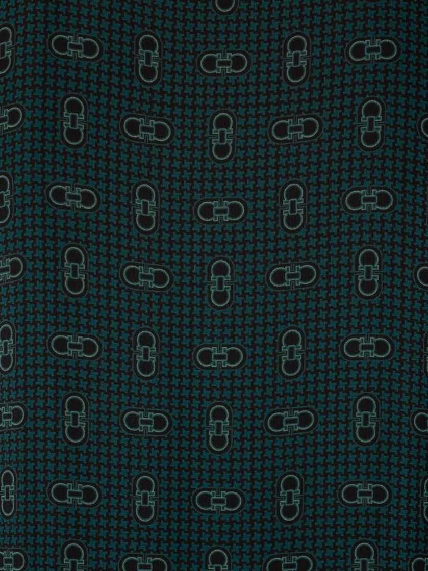 SALVATORE FERRAGAMO WOMEN'S 13G049 GREEN SILK DRESS