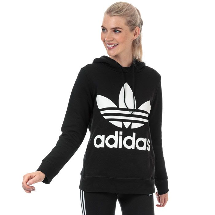 Women's adidas Originals Trefoil Hoodie in Black