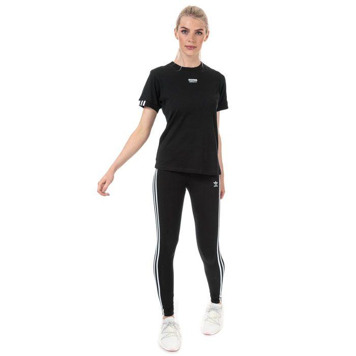 Women's adidas 3-Stripes Leggings in Black