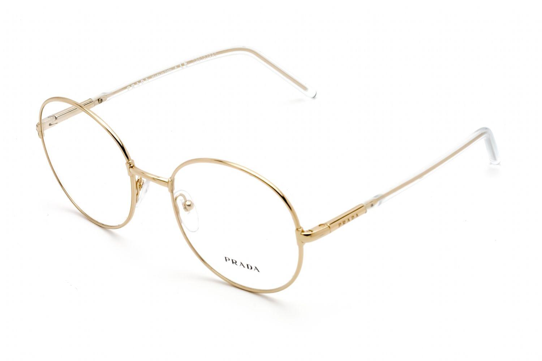 Prada Round metal Unisex Eyeglasses Gold / Clear Lens