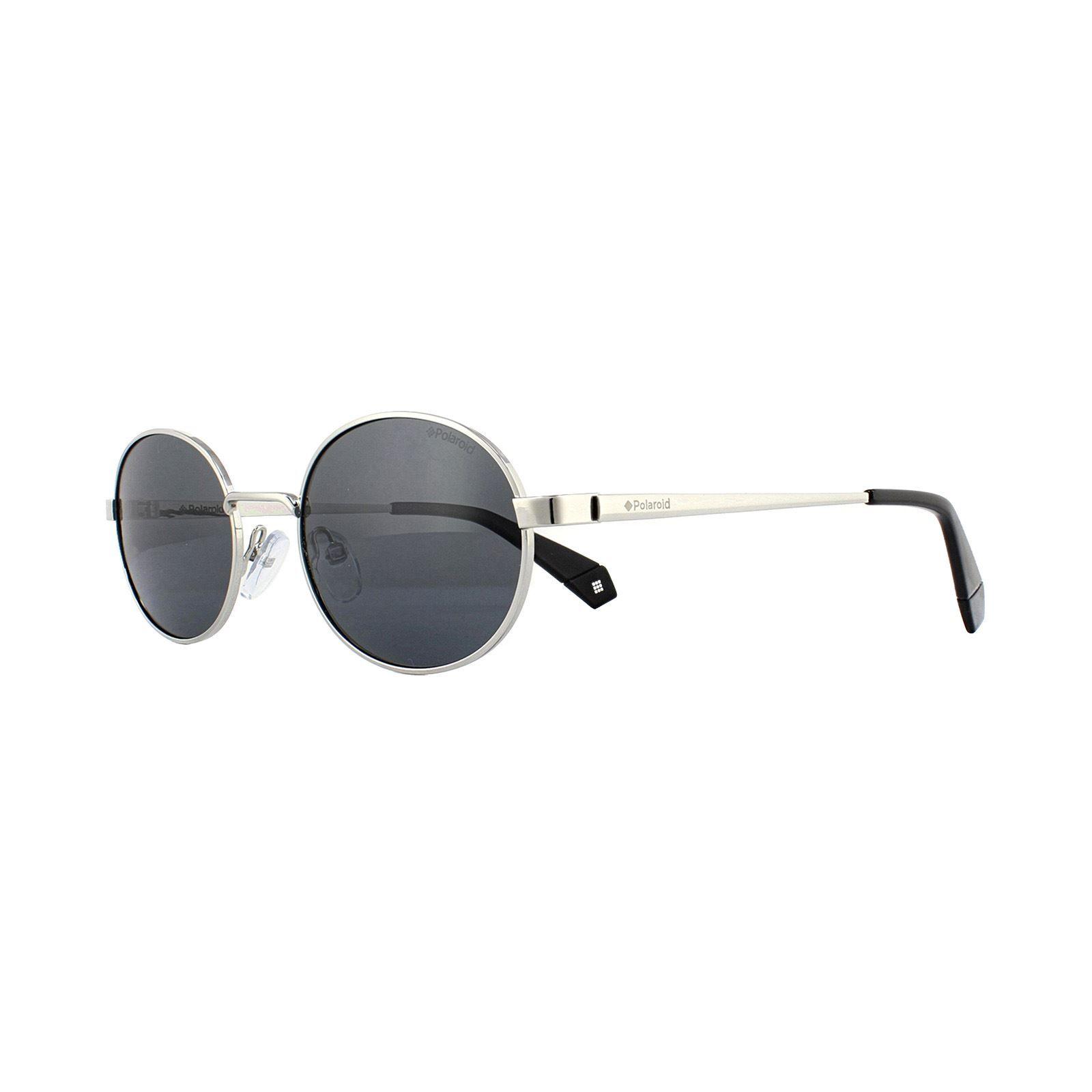 Polaroid Sunglasses PLD 6066/S 79D M9 Silver Black Grey Polarized