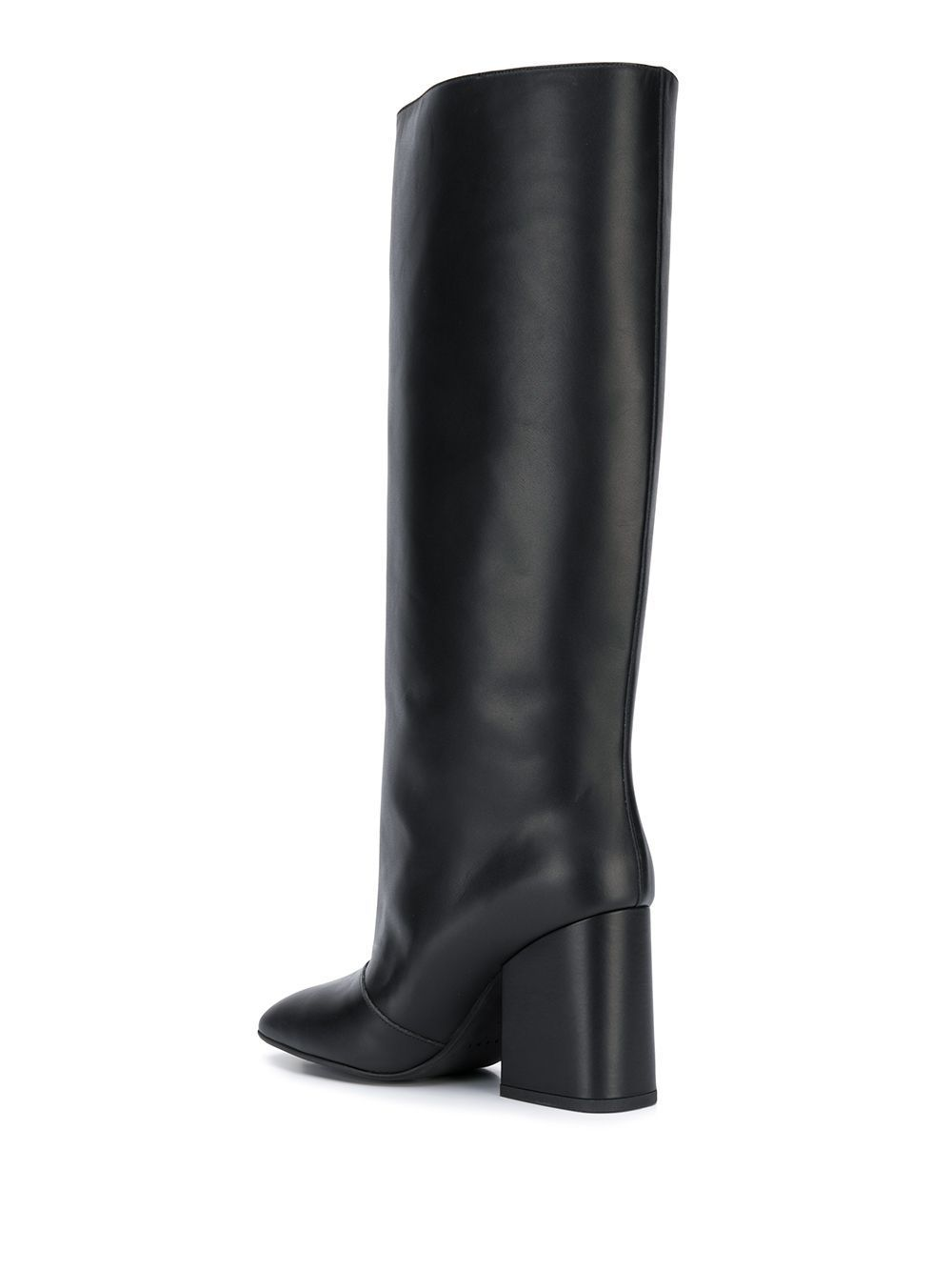 MARNI WOMEN'S STMS001709LV81700N99 BLACK LEATHER BOOTS