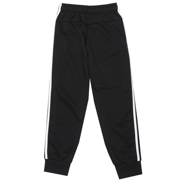 Boys' adidas Junior 3S Slim Jog Pant in Black
