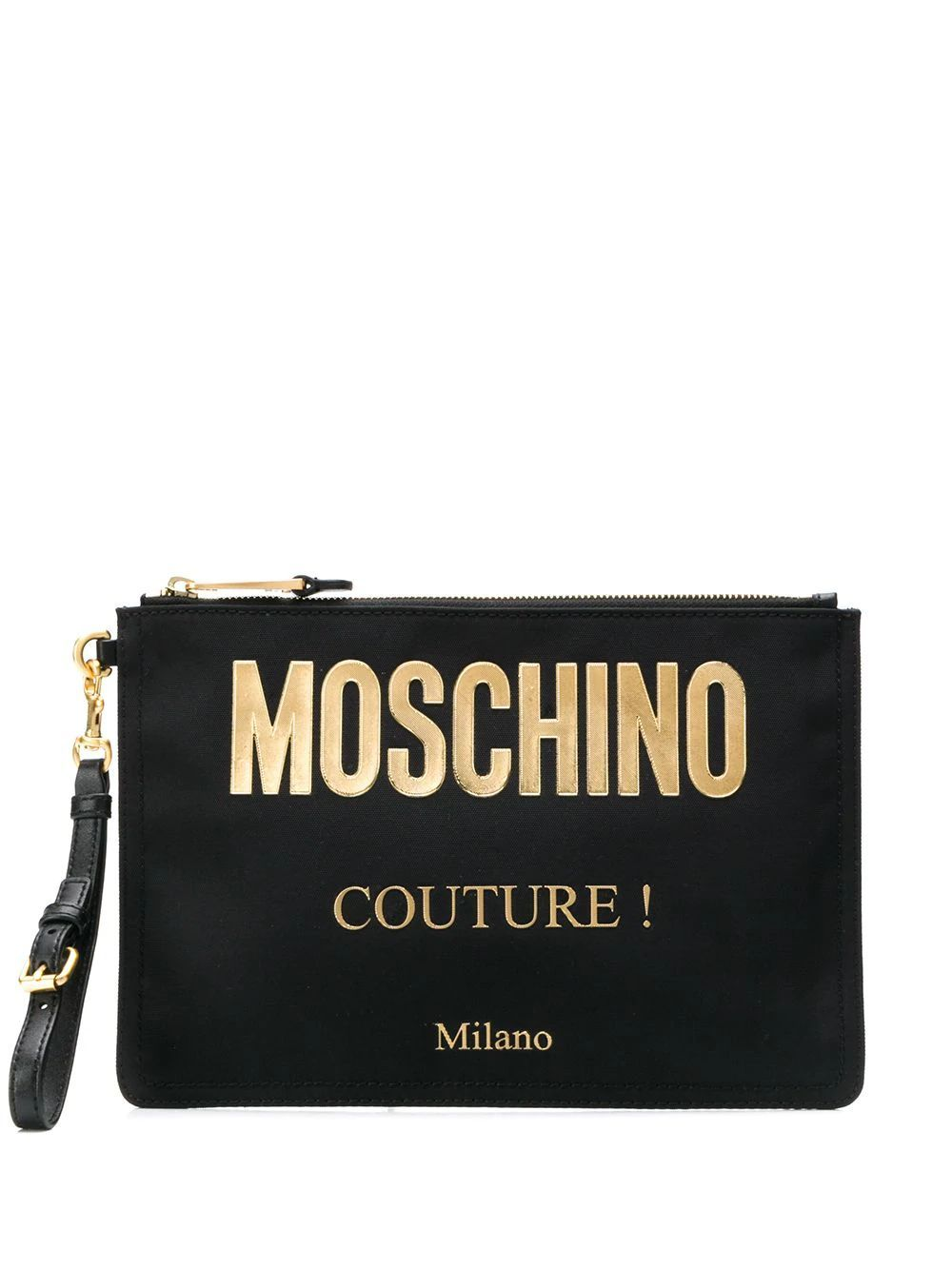 MOSCHINO WOMEN'S B840782051555 BLACK POLYESTER POUCH