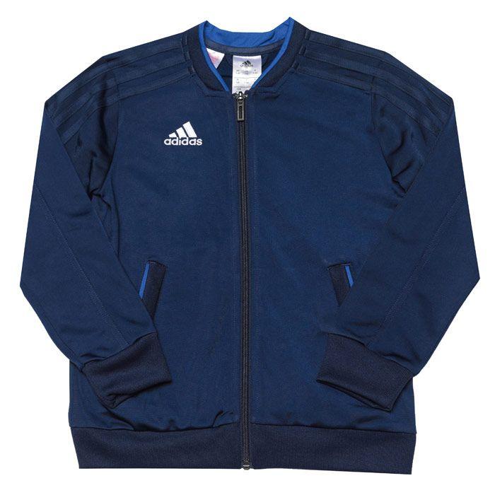 Boys' adidas Infant Con 18 Presentation Jacket in Dark Blue