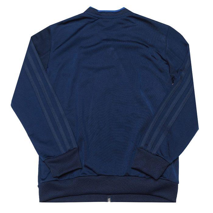 Boys' adidas Junior Con 18 Presentation Jacket in Dark Blue