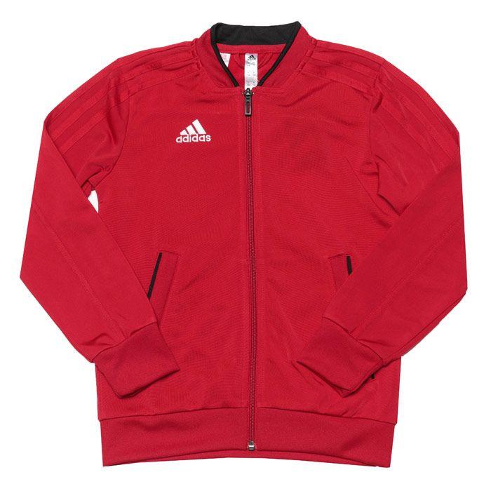 Boys' adidas Junior Condivo 18 Presentation Jacket in Red