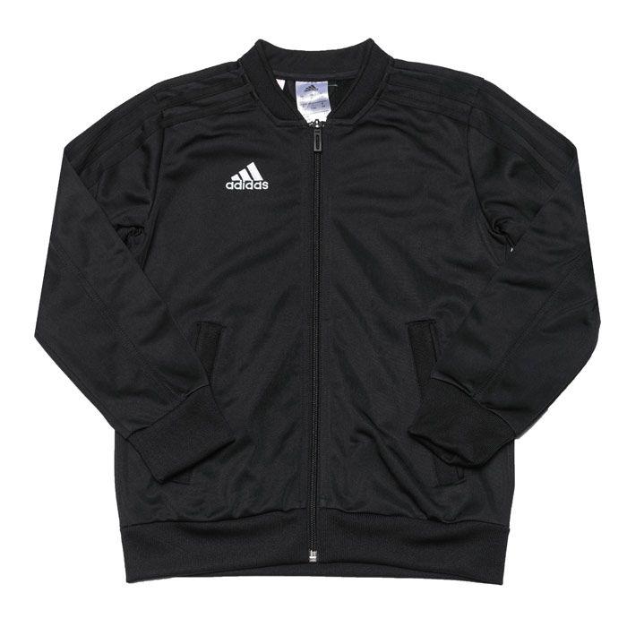 Boy's adidas Junior Con 18 Presentation Jacket in Black-White