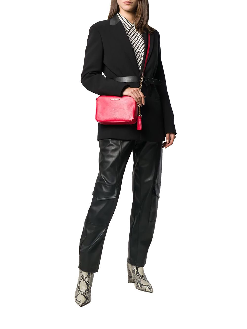 MICHAEL KORS WOMEN'S 32F7GGNM8L683 RED LEATHER SHOULDER BAG